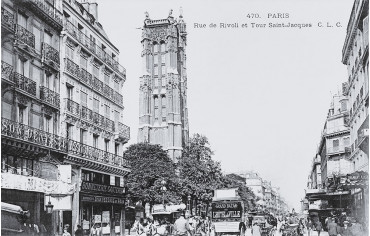 Rue de Rivoli et Tour Saint-Jacques - Paris 4