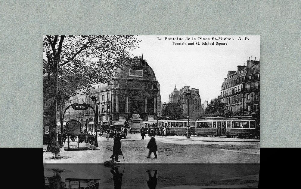 Fontaine de la place Saint Michel - Paris 5