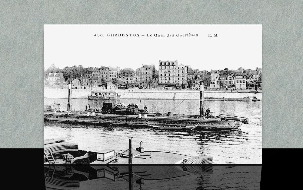 Quai des carrières - Charenton le pont dans les années 20