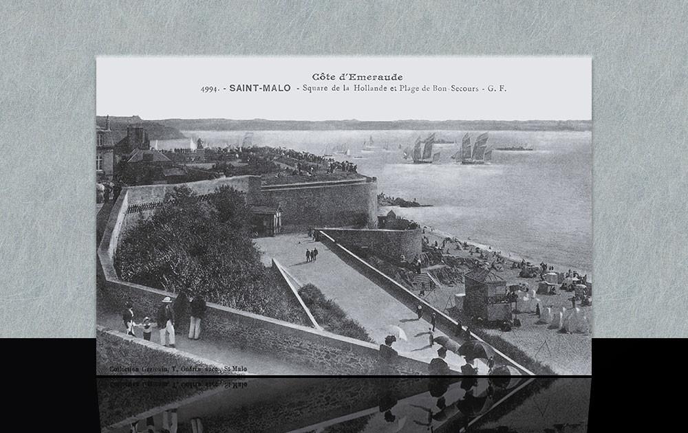 Square de la Hollande et plage de Bon-Secours - Saint-Malo