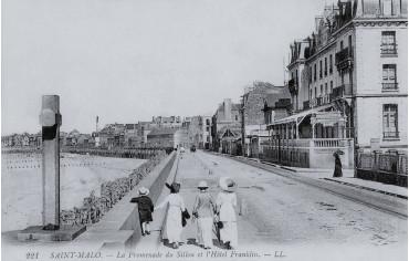 Promenade du sillon et hôtel Franklin - Saint-Malo