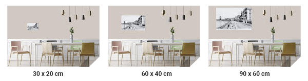 Choose the size of a table on picasquare.com